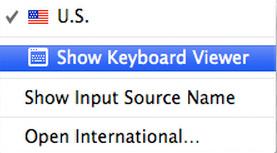Keyboard viewer for Os X Yosemite