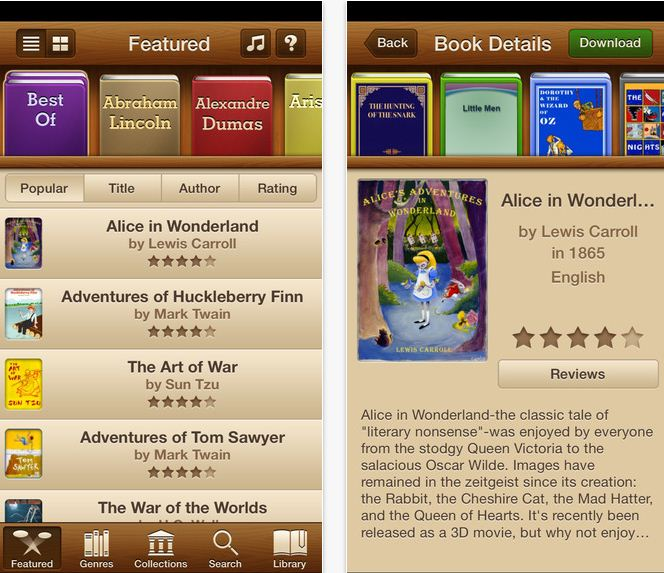 Best in 2015 audio books app for iOS