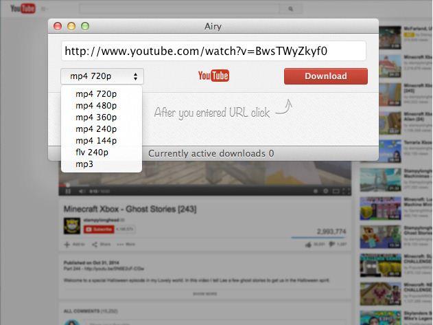 YouTube Downloader for Mac safari