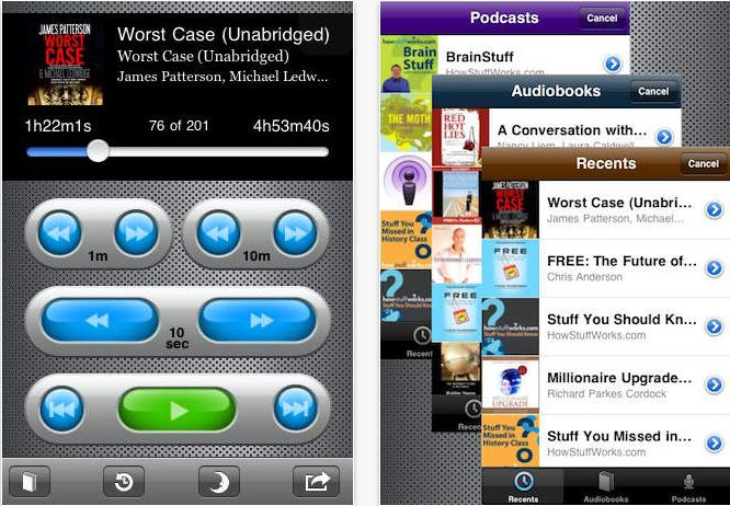 iPhone and iPad compatible Audibooks app