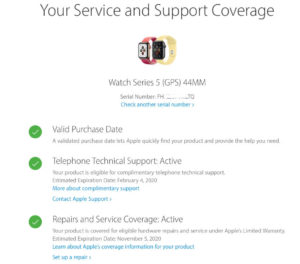 Check Warranty Status and Purchase Date online for new Device - Case 1
