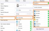 Enable or Disable apps use iCloud on iPhone and iPad