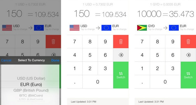 My Currency free app for iPhone 6 and iPhone 6 plus