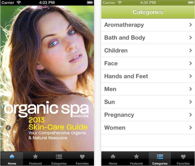 Guide apps for Organic Spa magazine Best Skin care Apps for iPhone
