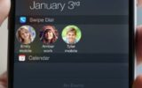 Using swipe dial add contacts in notification center