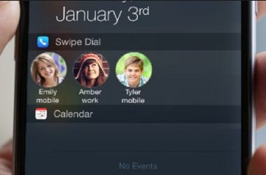 Using swipe dial Add speed dial contacts in notification center