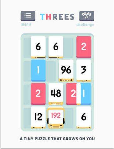 Threes Game for iPad in 2015