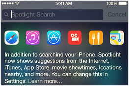 Best way for Turn on/ off spotlight search on iOS 8
