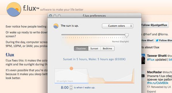 Swap your Mac desktop screen color timely in day