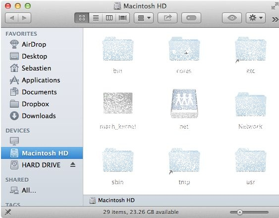 in mac terminal how to show a folder