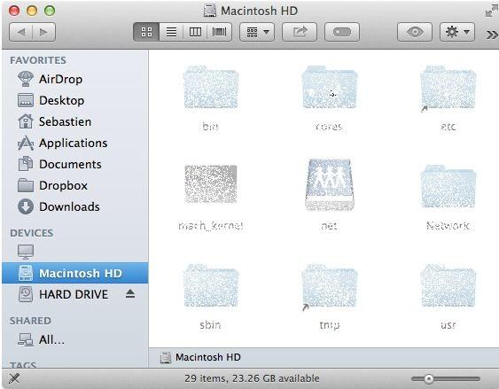 Show all hidden folder on your Mac running on Yosemite