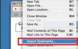 Export or Import bookmark page & file on safari running Mac