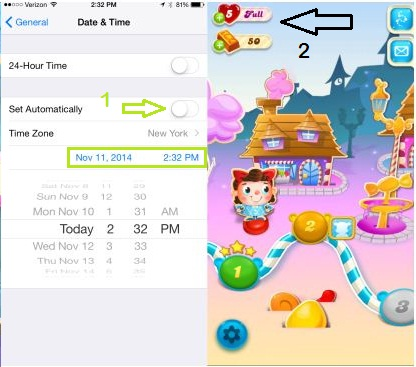 increase life in candy Crush saga from iPhone and iPad