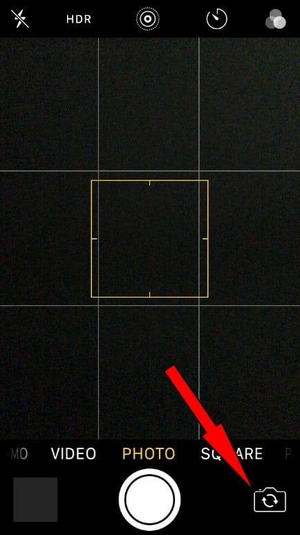 Try to change camera app front and rear mode on iPhone 7, 7 Plus