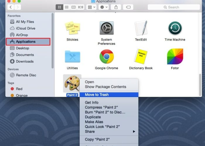 Remove or uninstall Application from Mac Yosemite