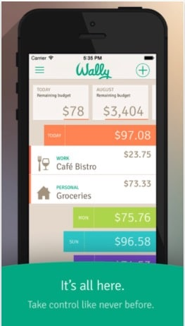 1 Wally personal finanace app for iPhone and iPad