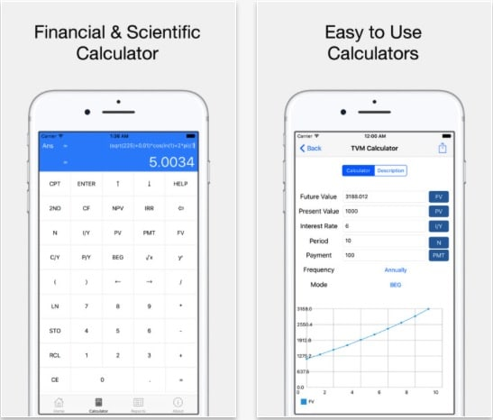2 FK Financial Calculator app for iOS