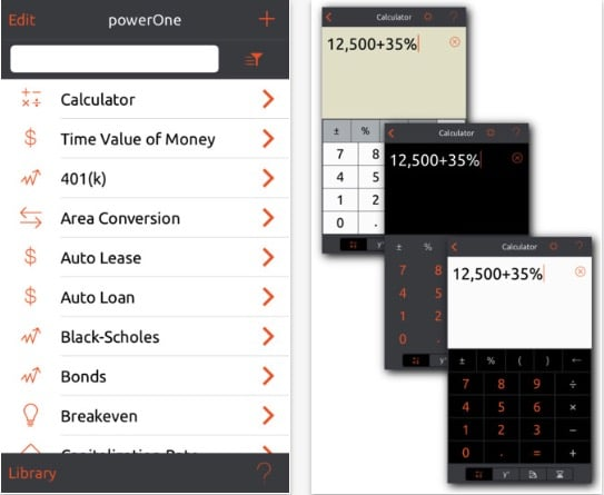 2 powerOne Finance Pro Calculator app for iPhone and iPad