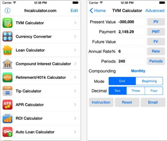 3 EZ Financial Calculators Pro use for personal finance app