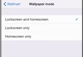 Choose Wallpaper mode for iPhone