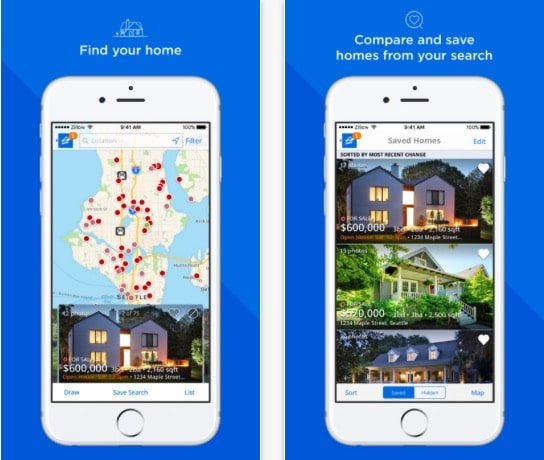 5 Zillow Real Estate iPhone app