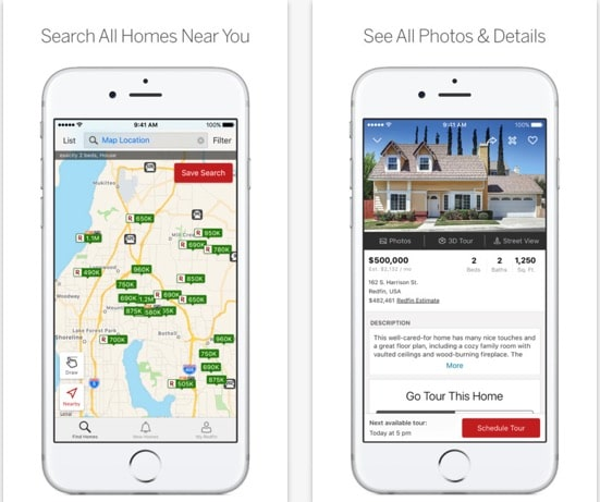7 Redfin iOS app for real Estate