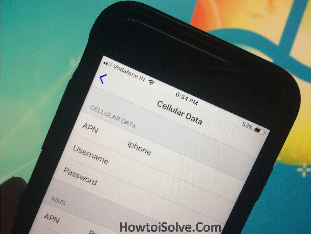 Add APN Settings on iPhone how to
