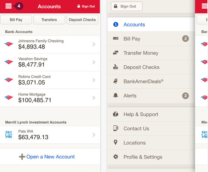 Check deposit in bank of America on iPhone