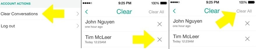 delete Snapchat conversations on iPhone 6 how to