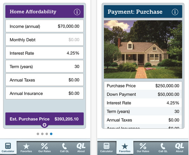 Top 3 Mortgage calculator app for iPad