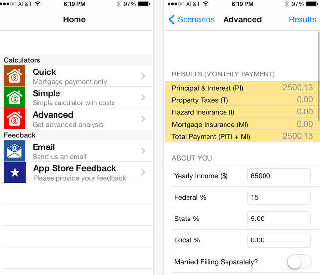 Best Mortgage calculator app for iPhone