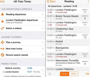 Best iPhone 6, 6 plus train apps UK – Never Miss a Train again