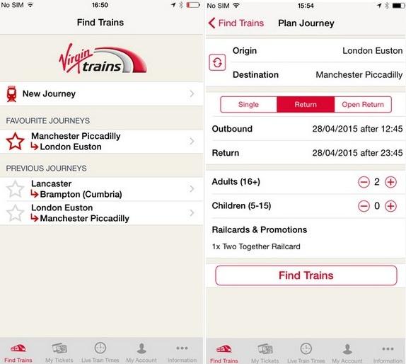 best iPhone 6, 6 plus train apps UK