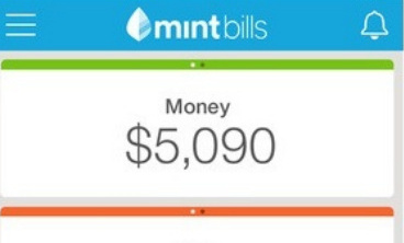 Mint Bills & Money app to pay bill online via your iOS 8 device