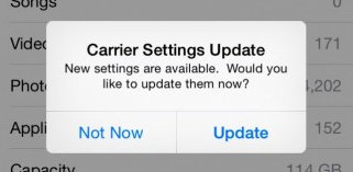 how to Update carrier settings on iPhone 6 manually