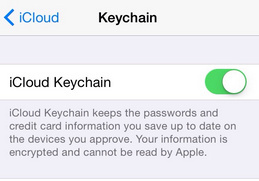 how to Setup iCloud Keychain on iPhone 6 and iOS 8 devices