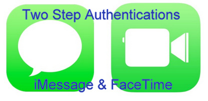 enable Two Step Authentications for FaceTime & iMessage how to