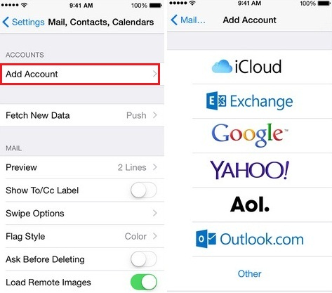 Set up for multiple email account on iPhone and iPad