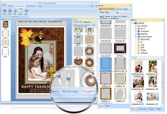 Greetings card maker for Mac and WIndows
