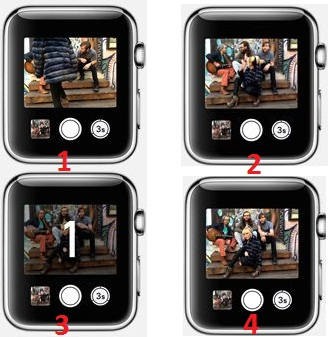 Take photo from iPhone remotely  as a selfie and Group photo