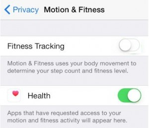 Turn off/ Disable fitness tracking on iPhone with iOS 8.2