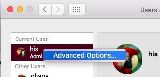 Update admin name on Mac