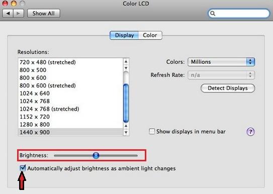 How to decrease/ increase Brightness on MacBook Air or MacBook Pro