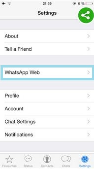 Use WhatsApp on Web browser through iPhone, iPad on iOS device