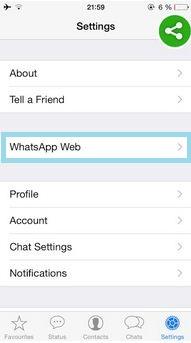 Use WhatsApp on Web browser through iPhone, iPad on iOS device