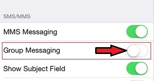 Turn off Group Text Message on iPhone 6 and iPhone 6 Plus