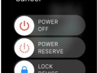 Put apple watch in power saving mode for long battery life