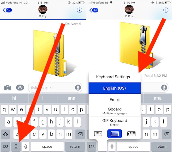 1 Customize or Switch keyboard on iPhone and iPad