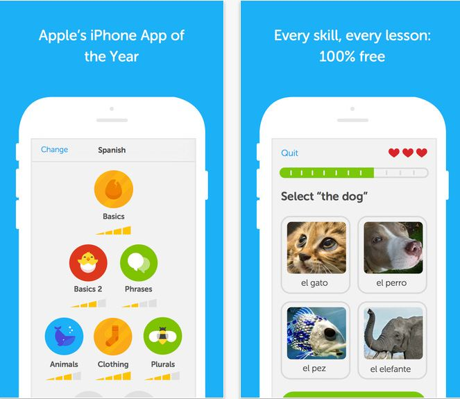 Duolingo Language learning apps for iPhone and iPad