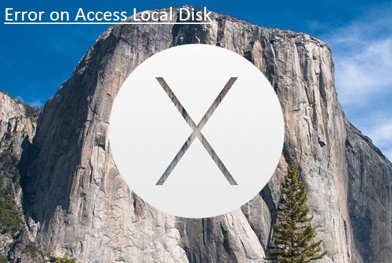 Solve error when disk access on Mac